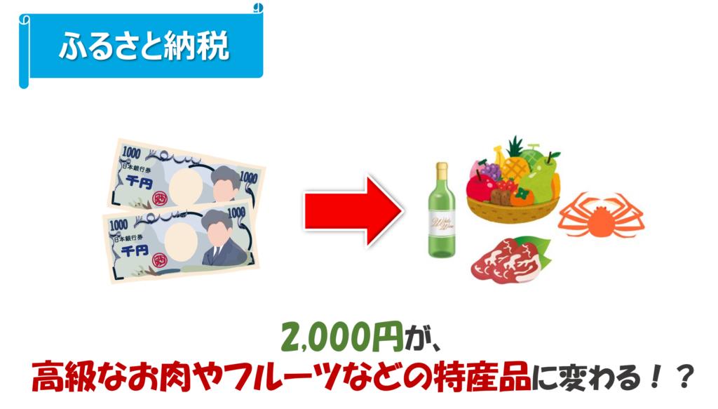 ふるさと納税は2千円が特産品に変わる!?